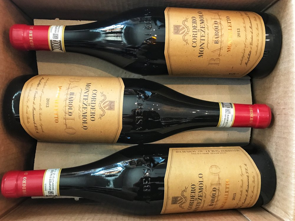Cordero di Montezemolo Barolo Monfalleto 2013 - $45.99 - 94 WE/94 JS/90 WS - Wild berry, aromatic herb, crushed blue flower and exotic spice aromas lead the way in this full-bodied wine. It delivers ripe but elegant Marasca cherry, cranberry, licorice and vanilla hints framed by taut, fine-grained tannins that lend structure and finesse.