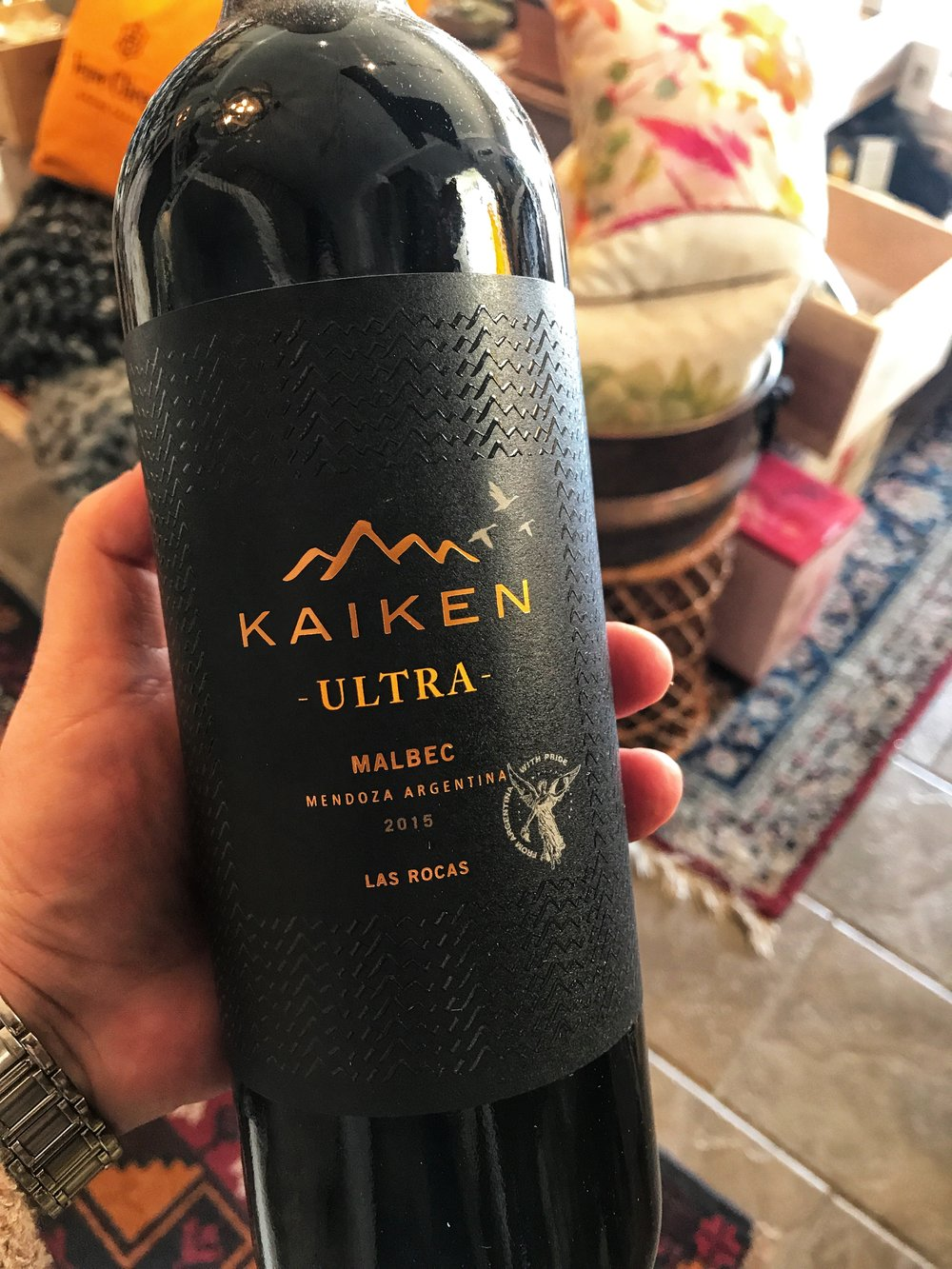 2015 Kaiken Ultra Malbec, Mendoza: 21.99 -  #45 Wine Spectator Top 100 of 2017 This Malbec shows a beautiful deep ruby color with violet hues. On the nose, flowery and mineral notes are evident, with spicy touches that make the wine more complex and are finely blended with the elegance of the French oak. On the mouth, it's a wine of great structure and power – sweet plum, mocha and black cherry flavors blend with well-integrated oak and tannins that are both soft and present. It has an outstanding balance and a very long and polished finish.