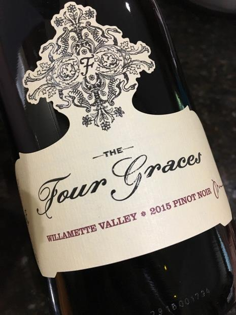"2015 The Four Graces Pinot Noir, Willamette Valley - $20.99 93 points Wine Spectator.  Expressive and supple, with a complex core of lively tannins and acidity, plus accents of black cherry, cinnamon and spice that linger toward a minerally  nish. Drink now through 2024.—T.F. Steve and Paula Black began the pursuit of a dream when in 2003 they purchased the 110-acre vineyard located in the Red Hills of Dundee and created The Four Graces. The Four Graces is aptly named after their four daughters – Alexis, Vanessa, Christiana, and Jillian. Brother Nicholas is recognized on the Reserve as ""Keeper of The Four Graces."""