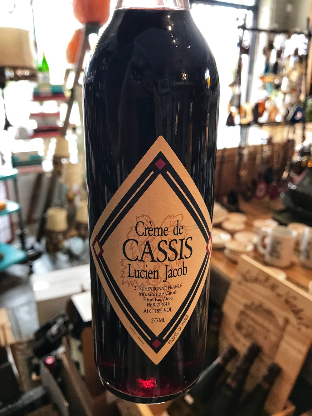 Domaine Lucien Jacob are not only very fine producers of white and red Burgundy but they also produce a highly regarded crème de cassis made from organically farmed blackcurrants grown around Beaune.  This is the real deal. Imported by Rosenthal Wine Merchant. $17.99 (375 ml)