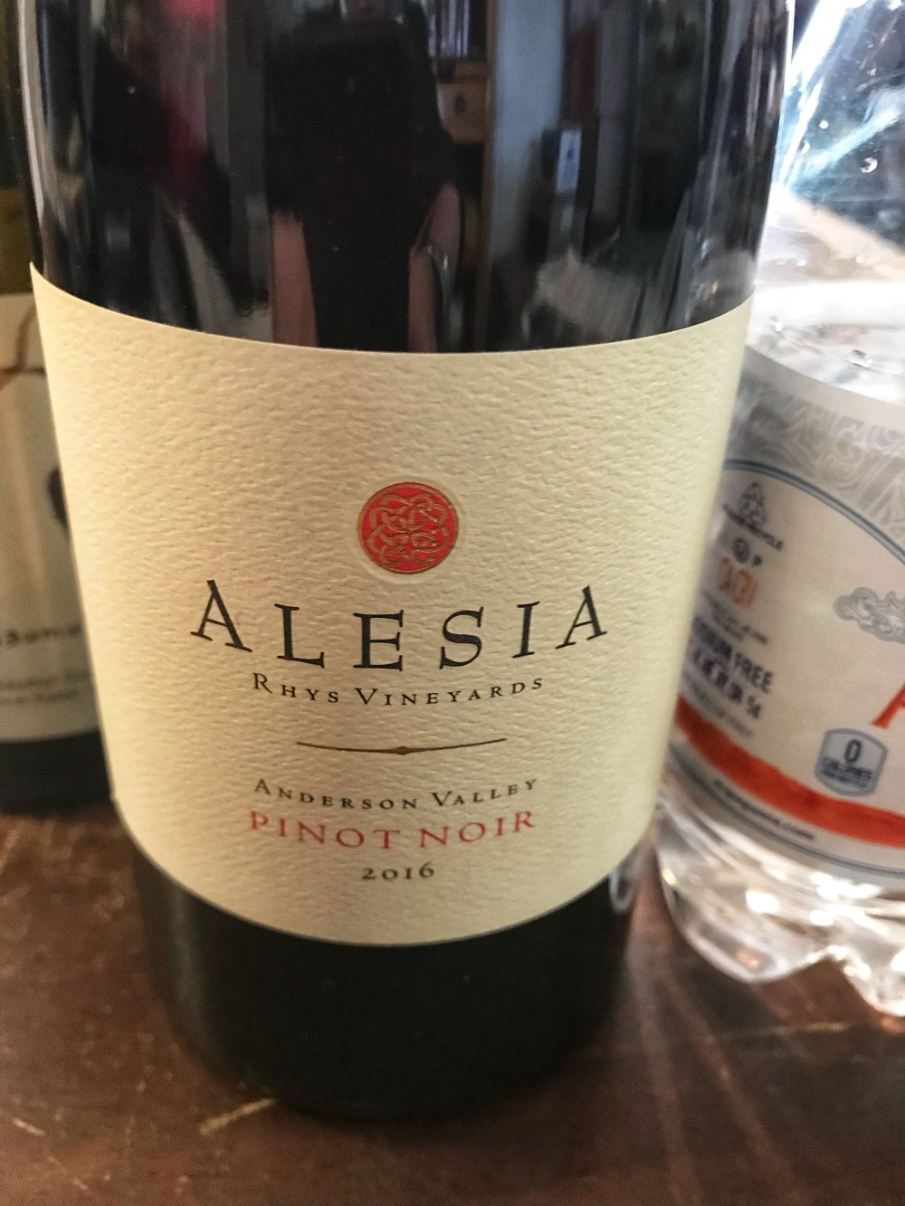 "2016 Rhys ""Alesia"" Pinot Noir, Anderson Valley: The Alesia label at Rhys Vineyards has made a re-appearance with an attractively-priced Pinot Noir and Chardonnay from the 2016 vintage. As Rhys Vineyards in years-past waited for their estate vineyards to come into production, they had reserved the Alesia label to bottle wines made from purchased fruit. But this 2016 Anderson Valley bottling is made entirely from estate vines that will one day be bottled under the Rhys label or likely even Bearwallow Vineyard. $49.99"