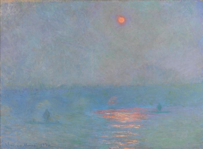 Claude Monet,  Waterloo Bridge: Fog Effect , 1903, St. Petersburg, Hermitage Museum