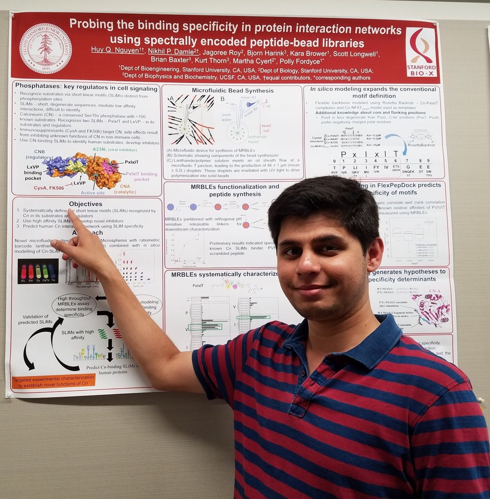 - Nikhil and Huy (Fordyce lab) win the best poster award at BioX poster session.