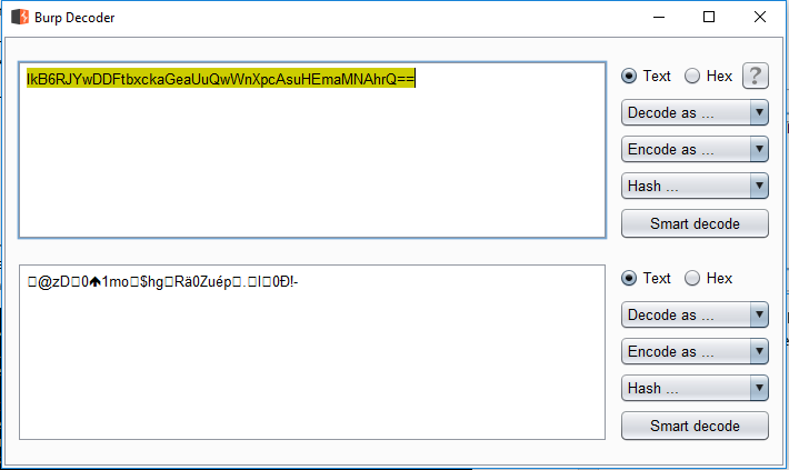 Decoded Encrypted Password