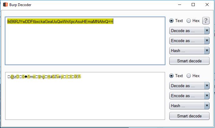 Decrypted Original Password