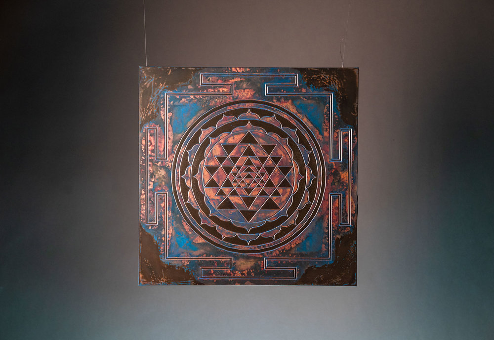 MANDALA - Focus your attention. Open a symbolic doorway into the mind that leads to the gate of the universe and at the centre you'll find a sacred space that emits radial balance.MATERIAL: Copper