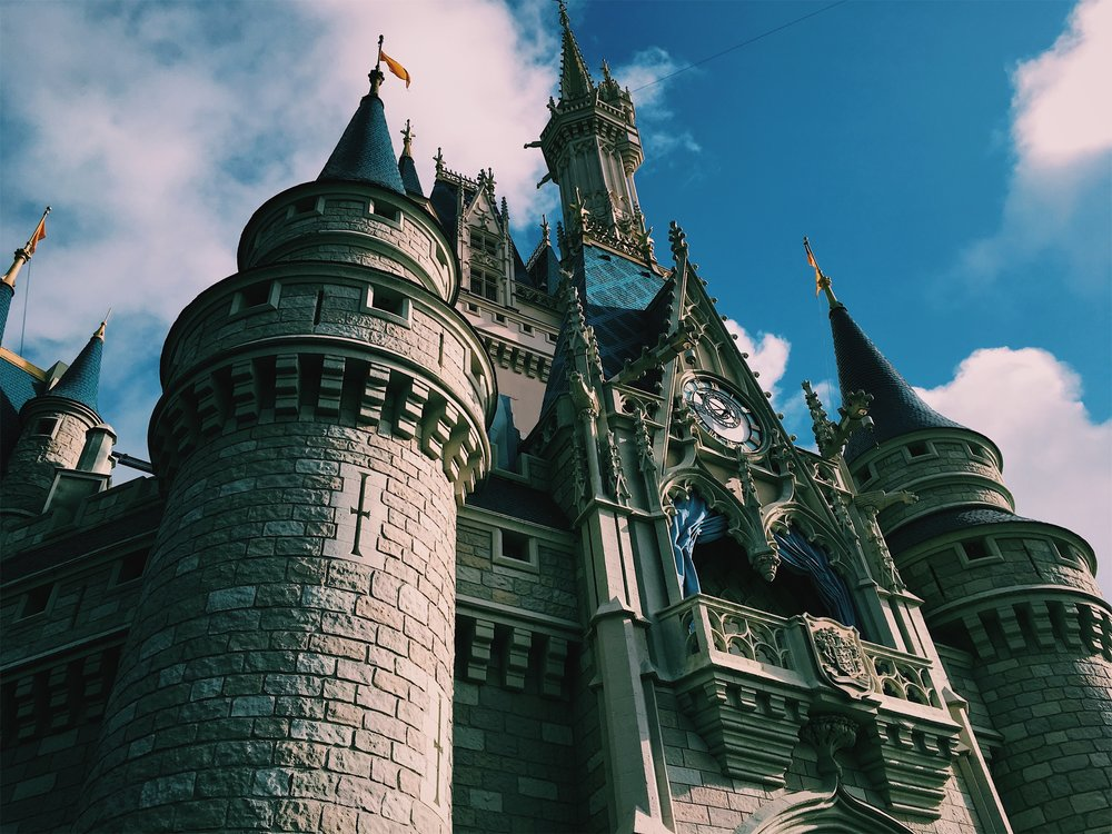 CINDERELLA'S CASTLE AT WALT DISNEY WORLD'S MAGIC KINGDOM  28.4195°N, 81.5812°W