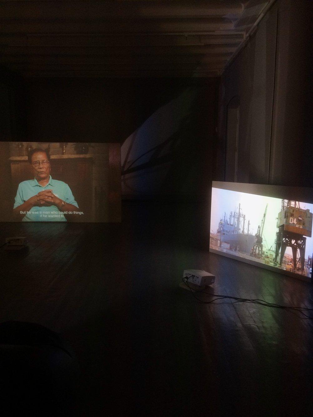 Hendiatris, flerkanals videoinstallasjon. Foto: Hilde Sørstrøm