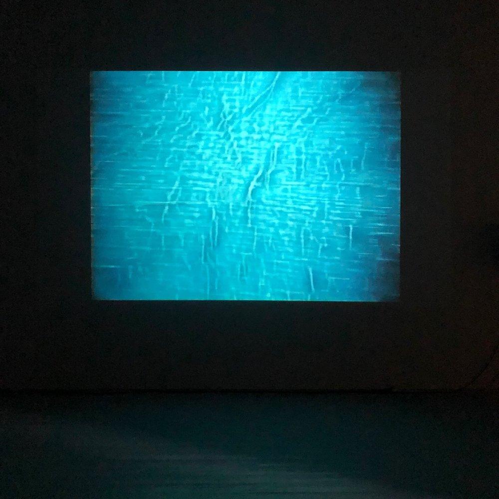 Fra  Purgatory revisited  (2018), analog video av Tor Jørgen van Eijk. Foto: Hilde Sørstrøm