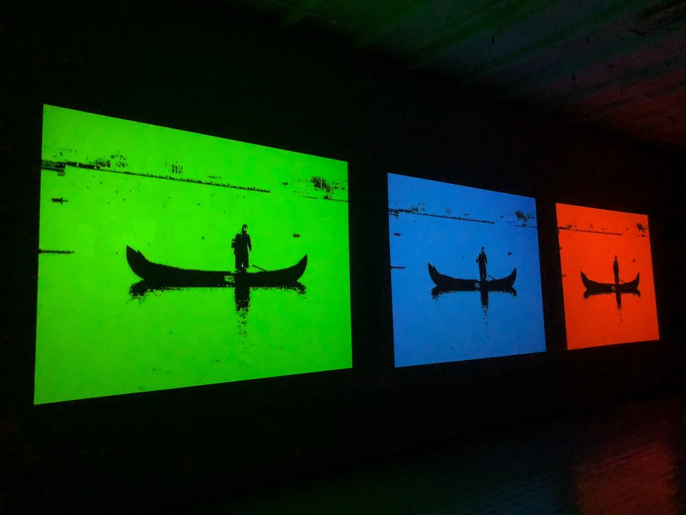 Fra  Tranquil in RGB  (2014), digital video, av Tor Jørgen van Eijk. Foto: Hilde Sørstrøm