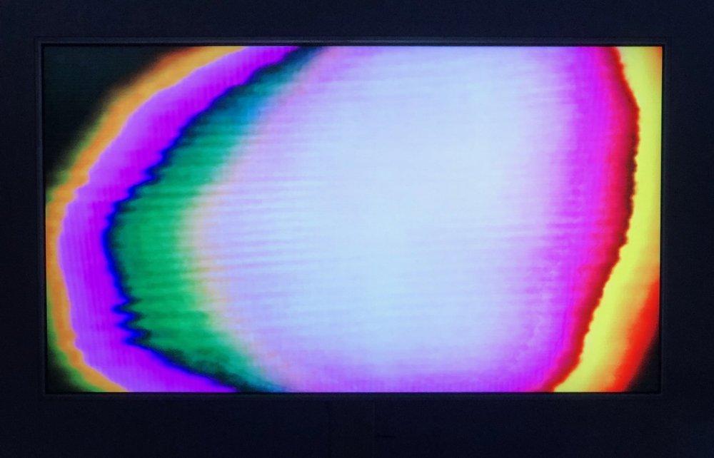 Detalj fra  Infinite Monologue  (2015), analog video av Tor Jørgen van Foto: Hilde Sørstrøm
