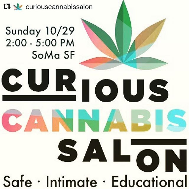 All the best to our friends at @curiouscannabissalon hosting their 1st event this Sunday in SOMA! Edibles and education all in a safe environment. DM us for more details! #THCThursdays ・・・ Hope you can join us in SoMa SF for a fun and educational afternoon about cannabis in a safe and intimate environment. #repost #curiouscannabissalon #newcomertocannabis #stopthestigma
