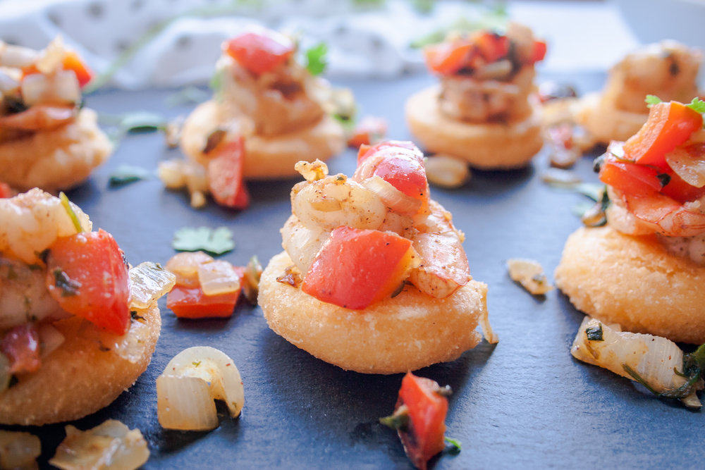 Arepa Shrimp Bites