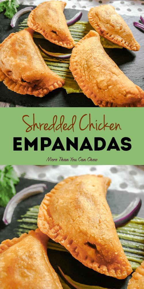 Shredded Chicken Empanadas More Than You Can Chew