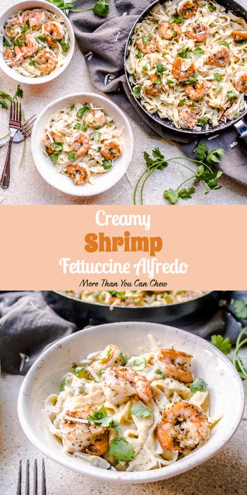 Creamy Shrimp Fettuccine Alfredo