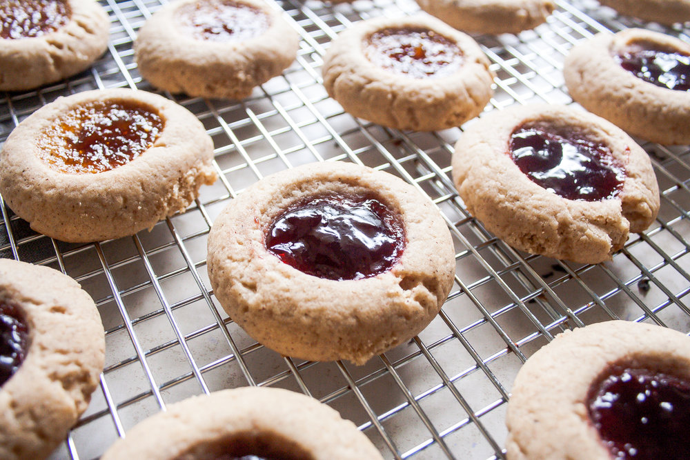 Chai Spiced Thumbprint Cookies