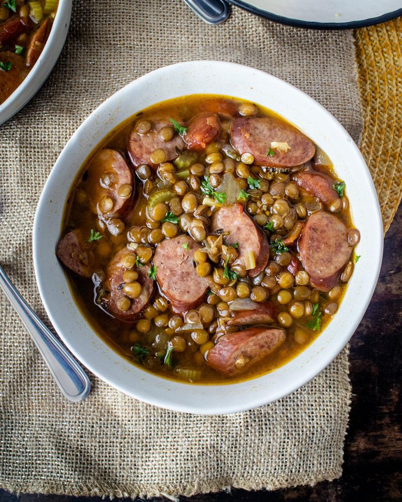 Lentils and Sausage Soup