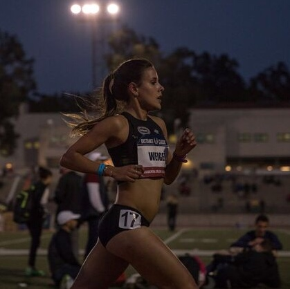 Maya Weigel - 2017 NCAA DIII 5k ChampionPersonal Record in the road mile of 4:33Personal Record in the 1500 of 4:22Personal Record in the 5K of 15:51