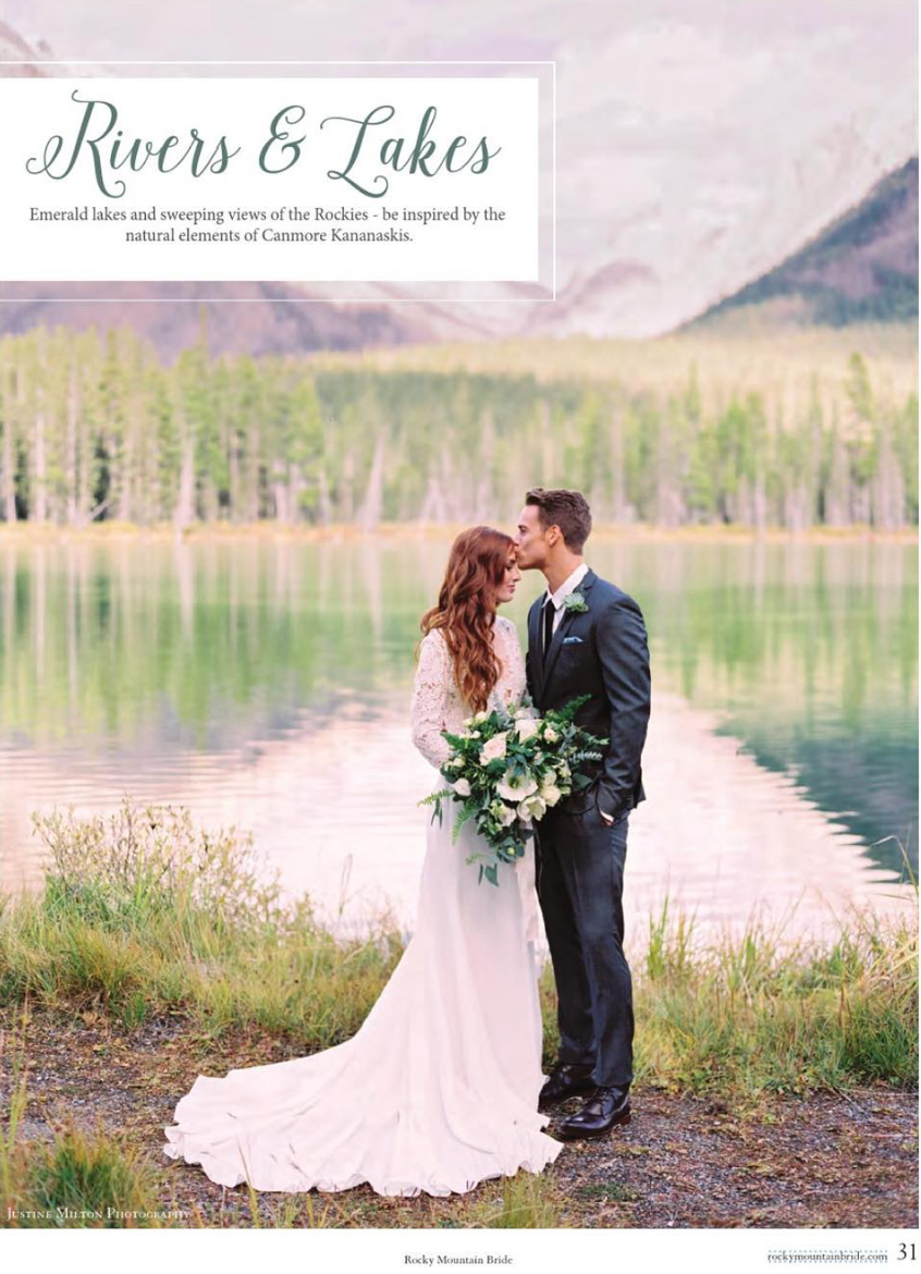 Rocky Mountain Bride - Featured in Rocky Mountain Bridal Regional Vol 1 for Alberta 2016