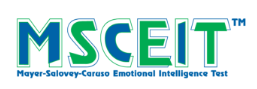 Mayer-Salovey-Caruso Emotional Intelligence Test (MSCEIT™) evaluates Emotional Intelligence (EI) through a series of objective and impersonal questions. It tests the respondent's ability to perceive, use, understand, and regulate emotions. Based on scenarios typical of everyday life, the MSCEIT measures how well people perform tasks and solve emotional problems, rather than having them provide their own subjective assessment of their emotional skills.  The MSCEIT test uses a variety of interesting and creative tasks to measure a person's capacity for reasoning with emotional information by directly testing their ability. This performance-based approach makes the MSCEIT test ideal for situations where respondents may want to create a positive impression or 'fake good.'