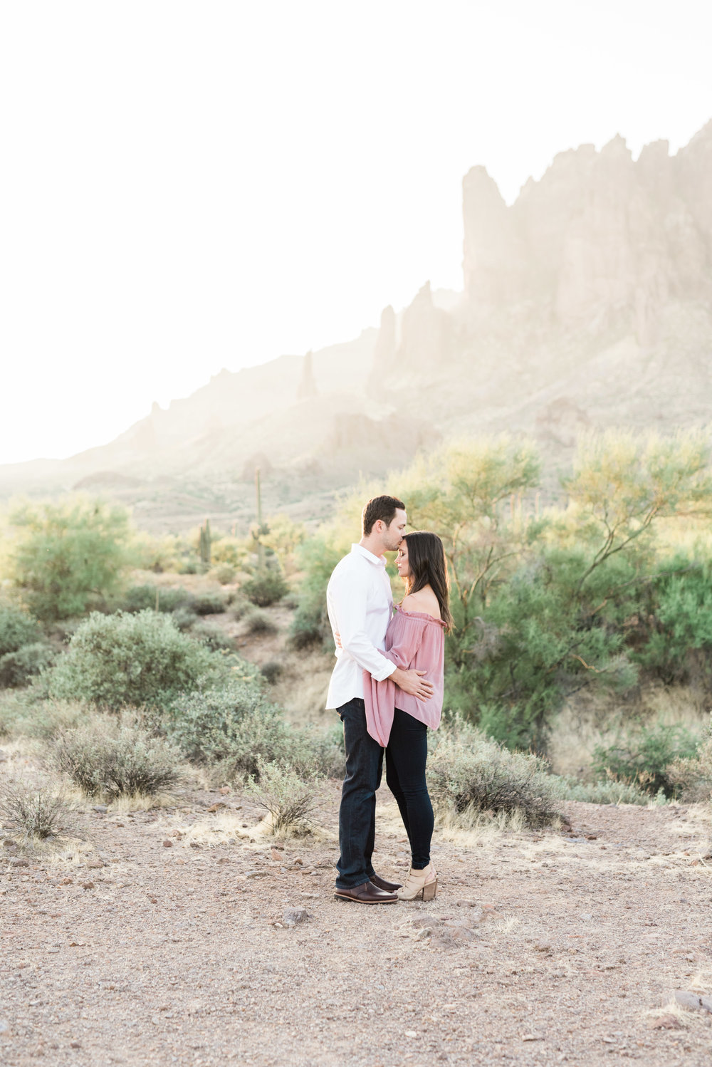ENGAGEMENT    Elizabeth & Walt     Superstition Mountains, AZ