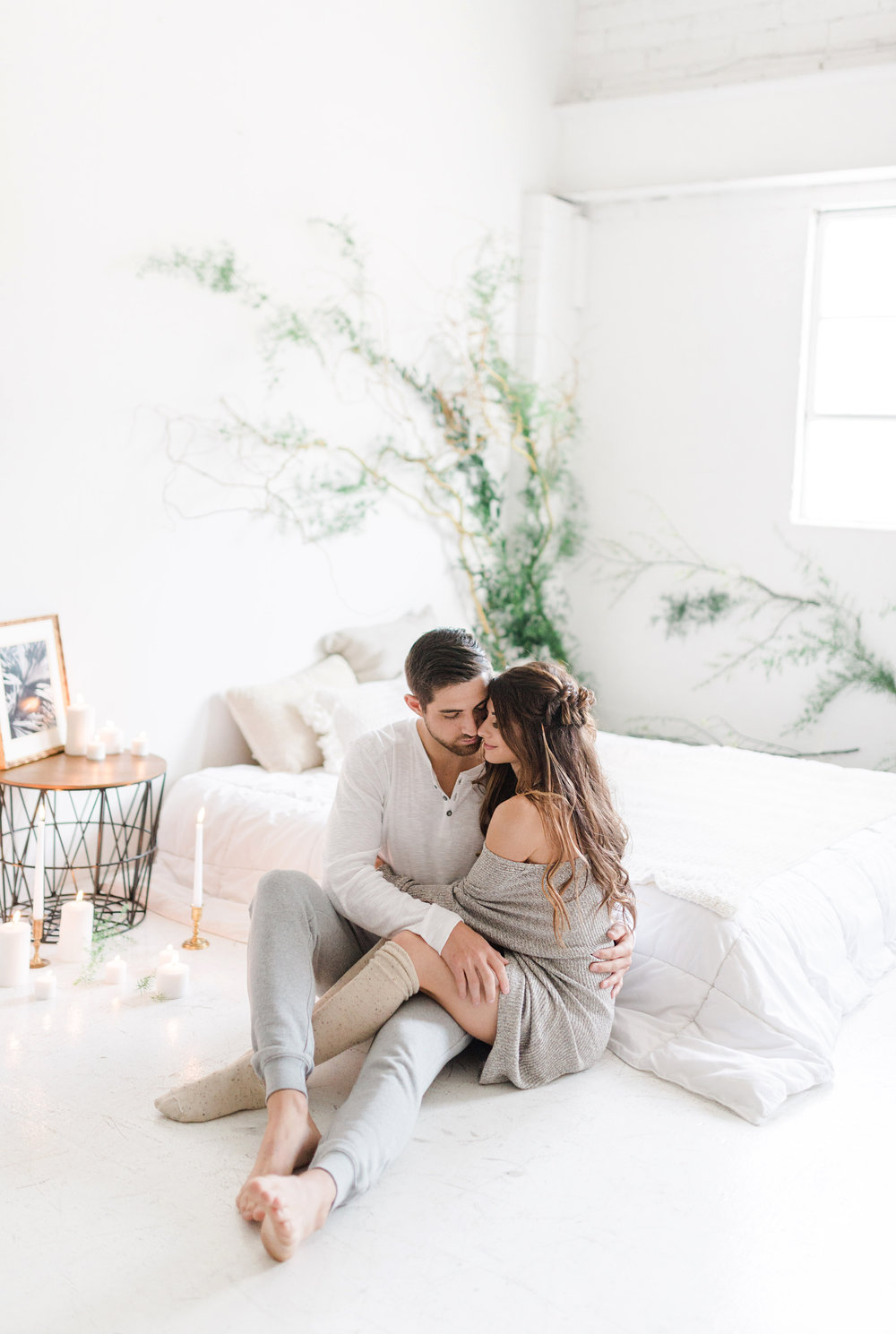 ENGAGEMENT INSPIRATION    In Home Ethereal Engagement     Blok Studio, Phoenix, AZ