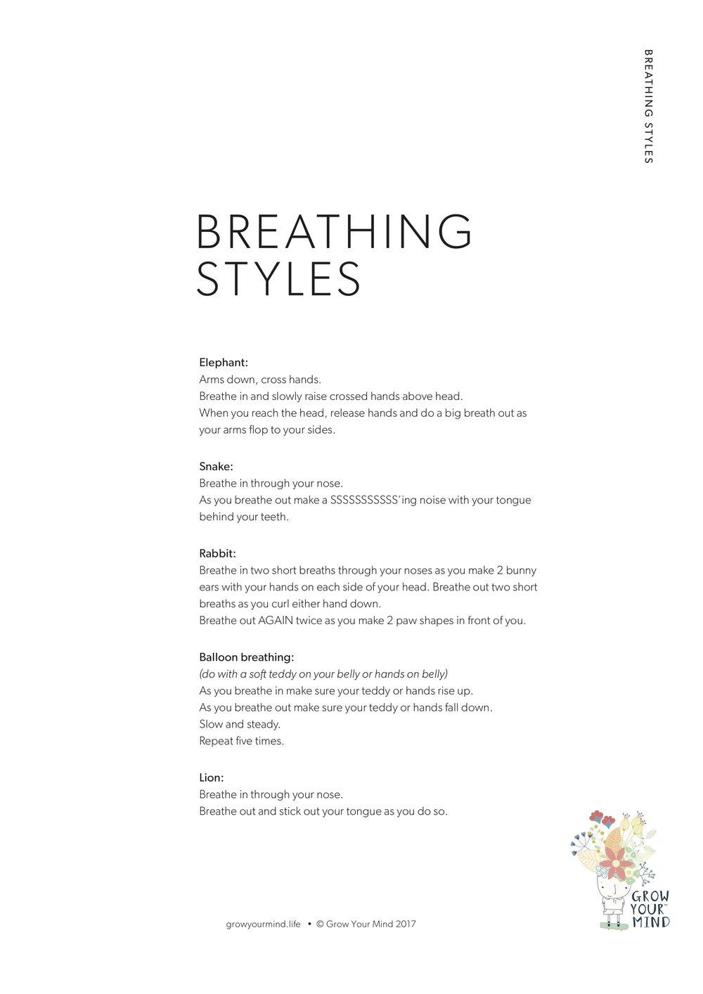 Breathing Styles -