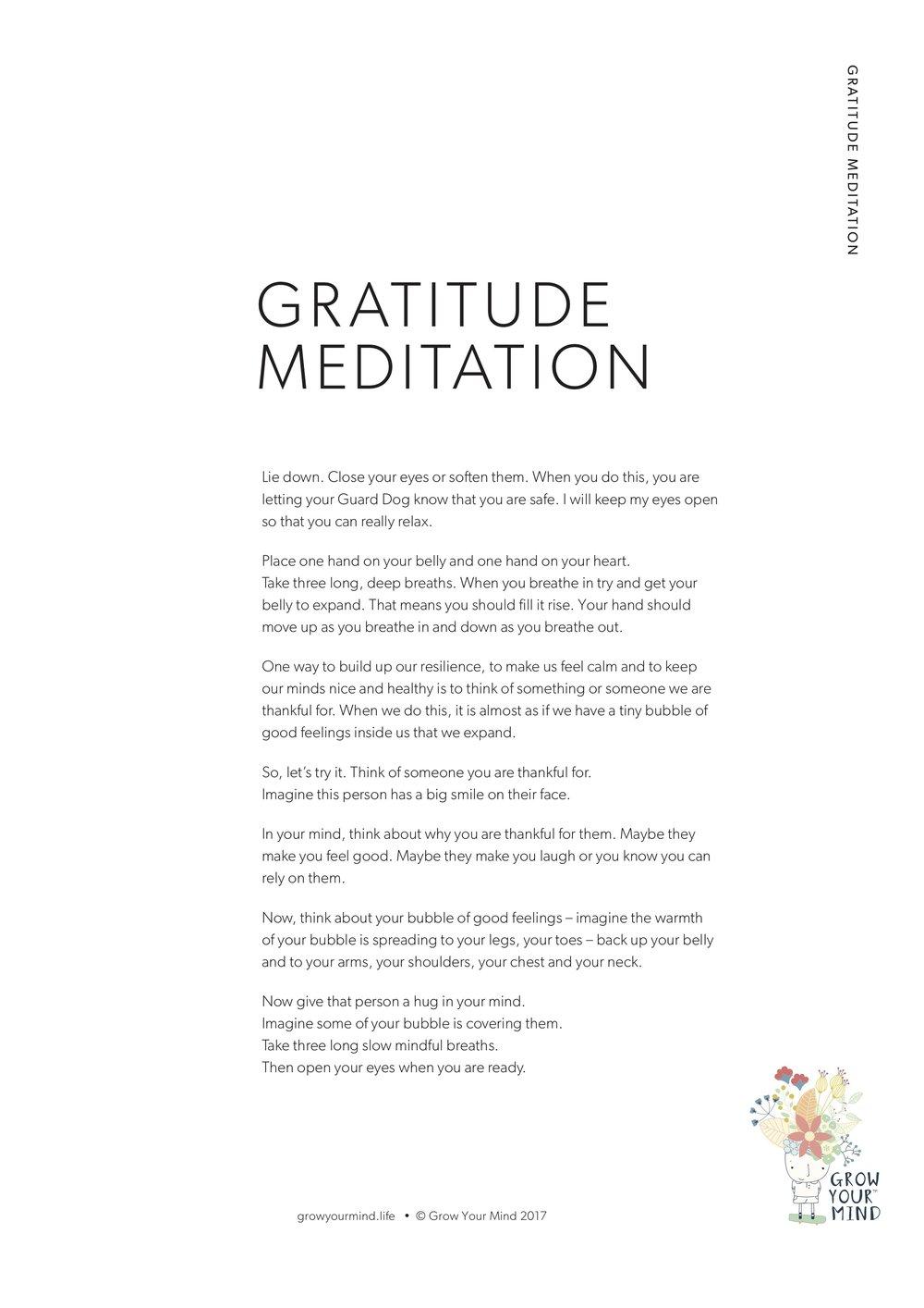 Gratitude Meditation -