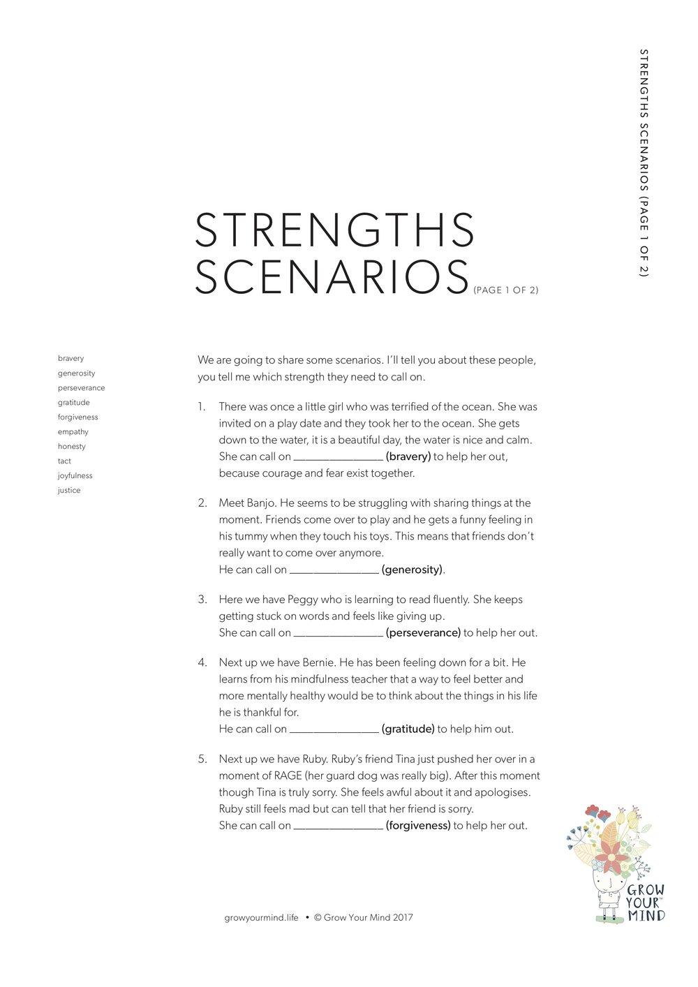 Strength Scenarios -