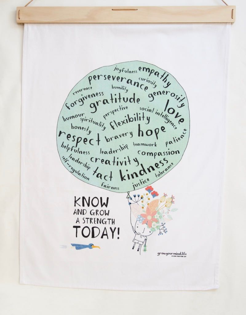 - KNOW AND GROW A STRENGTH FABRIC PRINT- Know your strengths and explore ways you can practice others. You can hang this on your wall and refer to it on a regular basis, E.g.