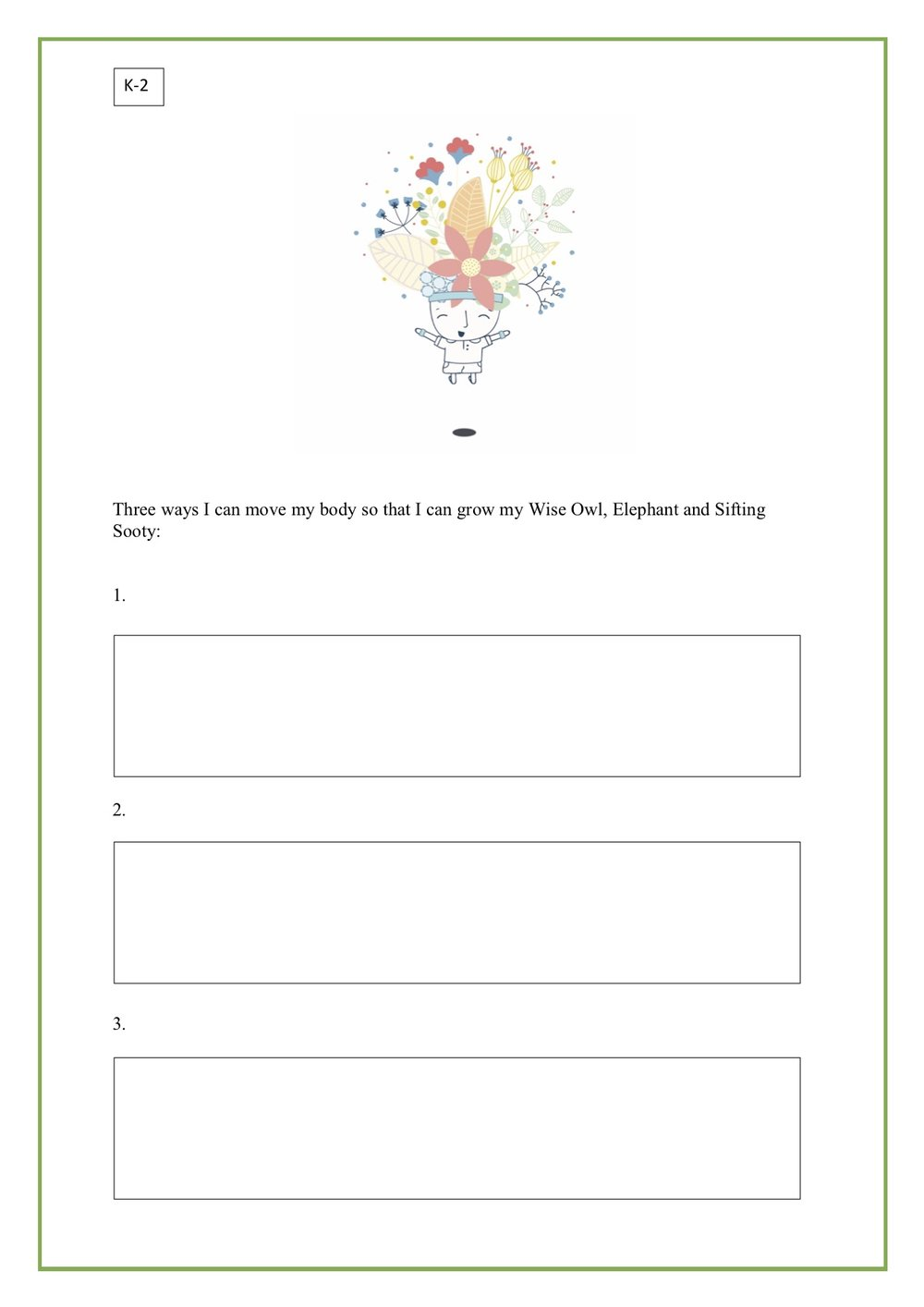 Mindful Movement - Worksheets for K-2 and 3-6