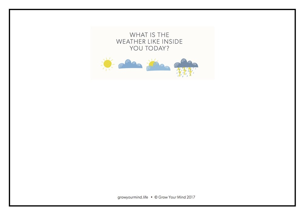 Draw internal weather - K-6 self check in. Draw a picture of the weather inside you today.