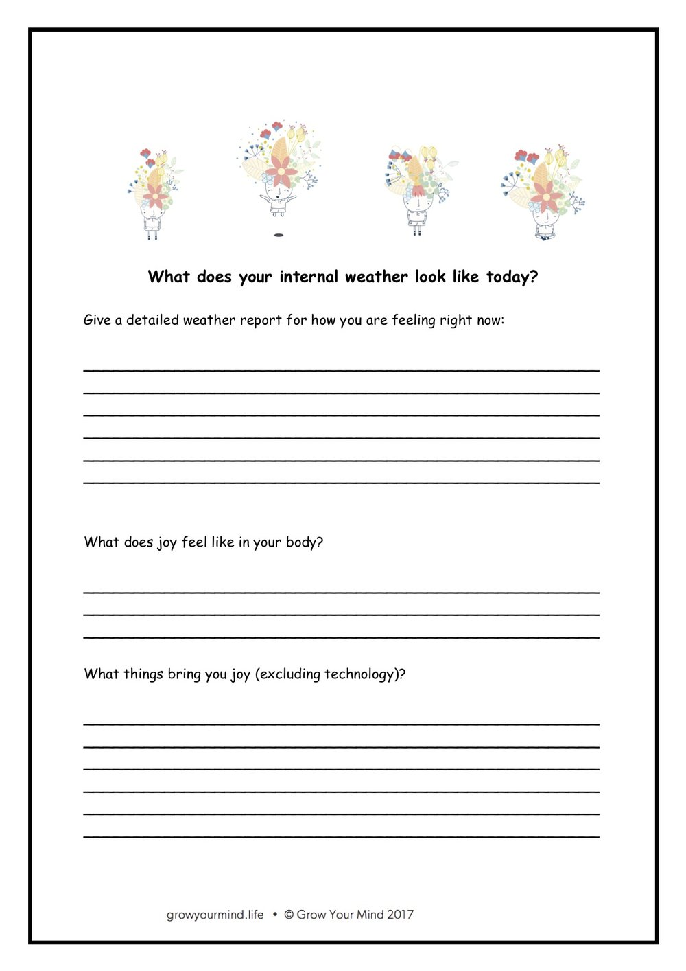 Internal weather worksheet - Year 2-6