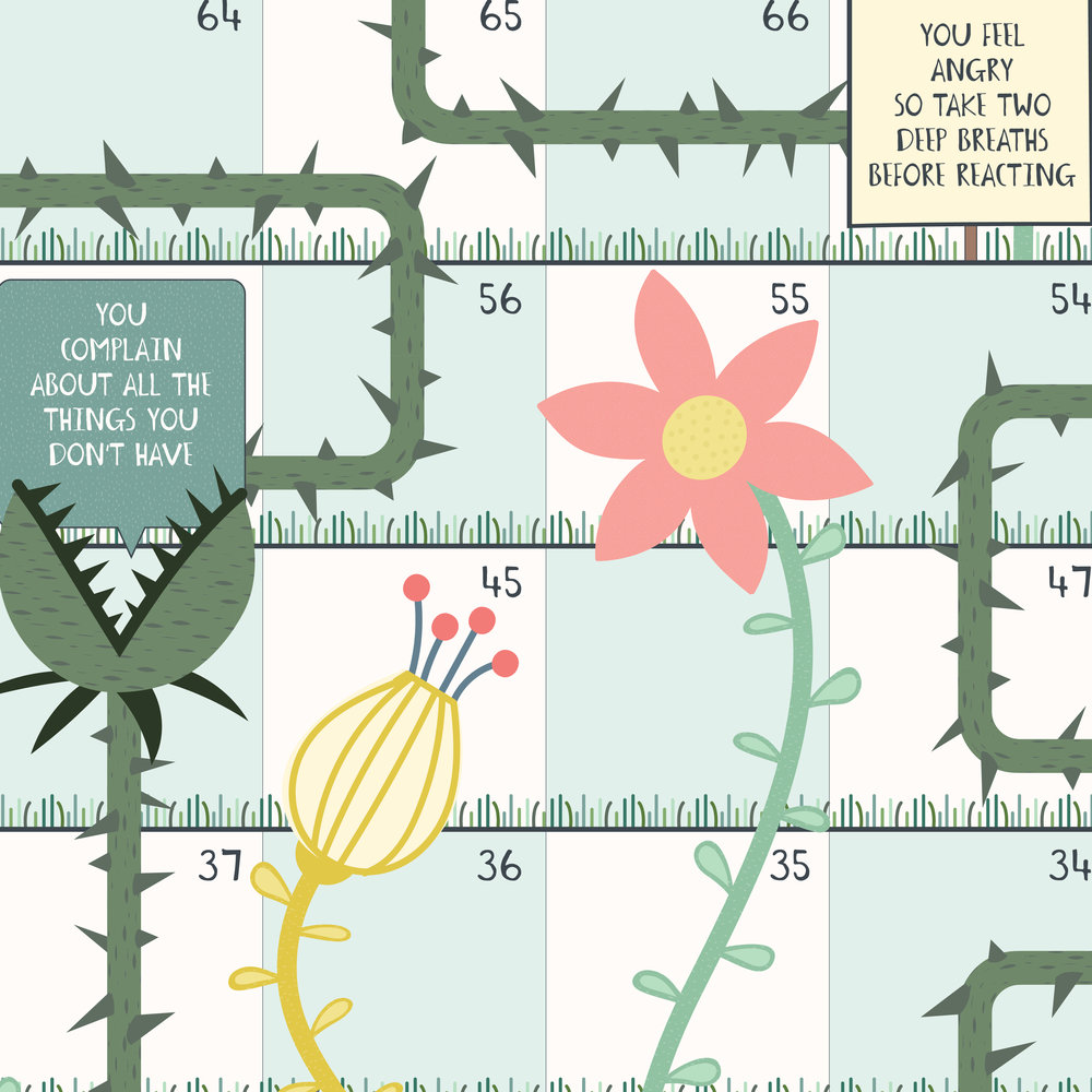 A glimpse of our Weeds and Flowers board game