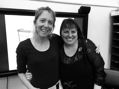 (R) Nicole Molloy, Principal of Woollahra Public and (L) Alice Peel, co-founder of Grow Your Mind