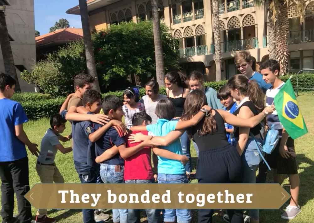 AUB Alumni Summer Program - The Center for Civic Engagement & Community Service (CCECS) and Alumni Relations at the American University of Beirut (AUB) invited Help Syria's Kids and (25) of the Syrian refugee children from Ketermaya, Chouf to participate in a peer-to-peer project spanning two weeks at the American University of Beirut campus. This brought together AUB alumni children from North American to engage in cultural discussions and storytelling exchanges with Syrian refugee children of Ketermaya. This was an absolute dream opportunity and we could not have been more grateful to realize this for these kids.The objective was to provide space for peers to develop cultural understanding and create lasting friendships that go beyond the program. Being on the ground with our partners at AUB bridged many more relationships and partners to help the Syrian refugee children and families of Ketermaya.
