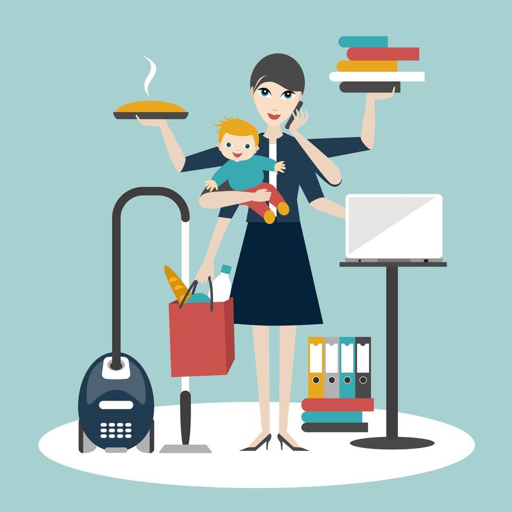 4. Moms are MULTITASKERS -