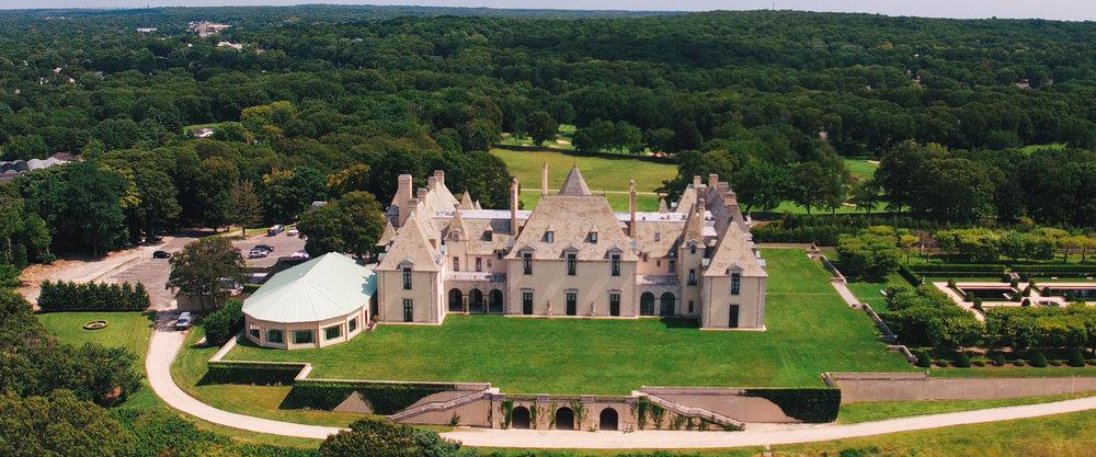 Oheka Castle Drone Shot