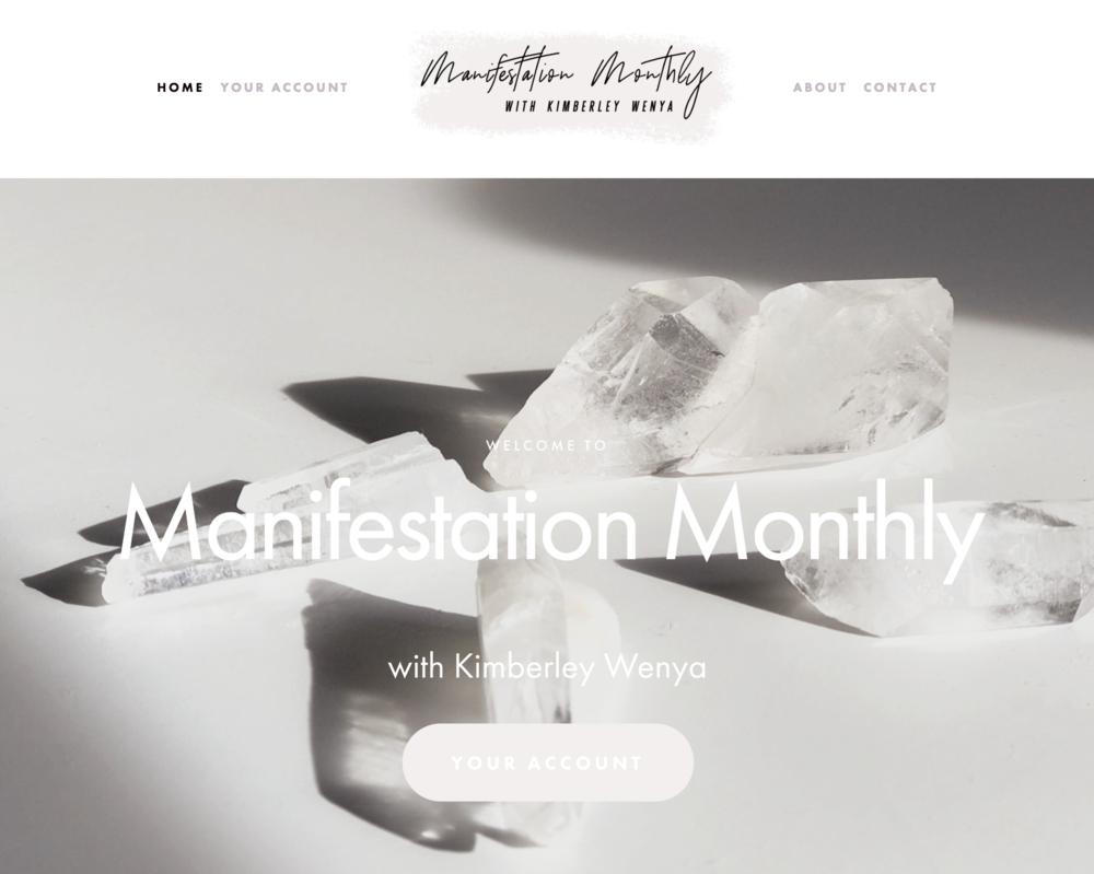 manifestation-monthly-membership-site