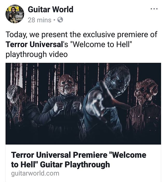 "TERROR UNIVERSAL's very own THRAX, on @guitarworldmagazine with ""Welcome To Hell"" playthrough!"