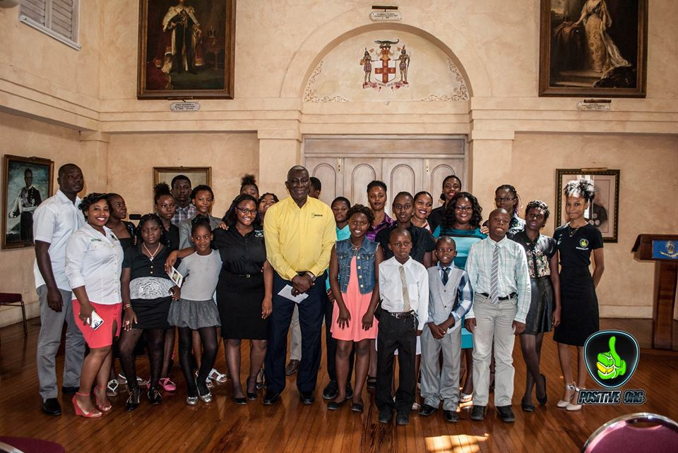 Members Of The Tivoli Gardens Police Youth Club &  Positive Organization  at The  Office of the Governor- General Jamaica ( King's House)  Photo credit  Neville Charlton