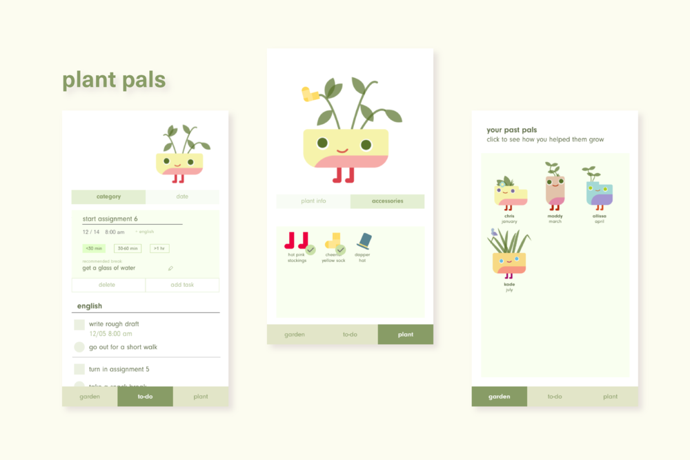 Plant Pals: To-Do Application  research, ui/ux, motion