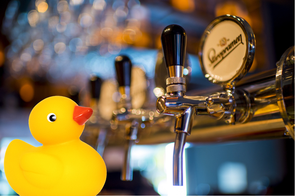 Take your rubber duck on a pub crawl.