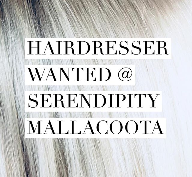 Hairdresser desperately needed in Mallacoota! Email info@serendipitymallacoota.com.au personal message or phone (03)51580557 #hairdresser #stylist #seachange #coastal #mallacoota #beach #hair #officewithaview #surf #sand #fun #hair