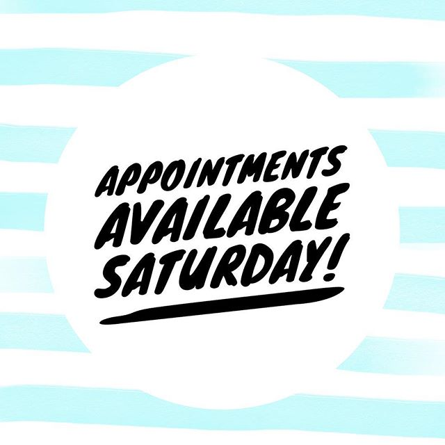 Have you been waiting to get in and get your hair done? Well Saturday is available! Massage appointments with Jodie also available. Xx