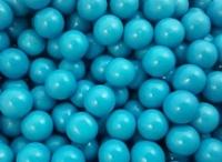 blue chocolate balls -
