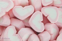 pink marshmallow hearts -