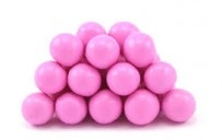 pink sixlet balls -