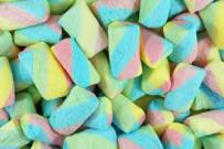 coloured marshmallow -