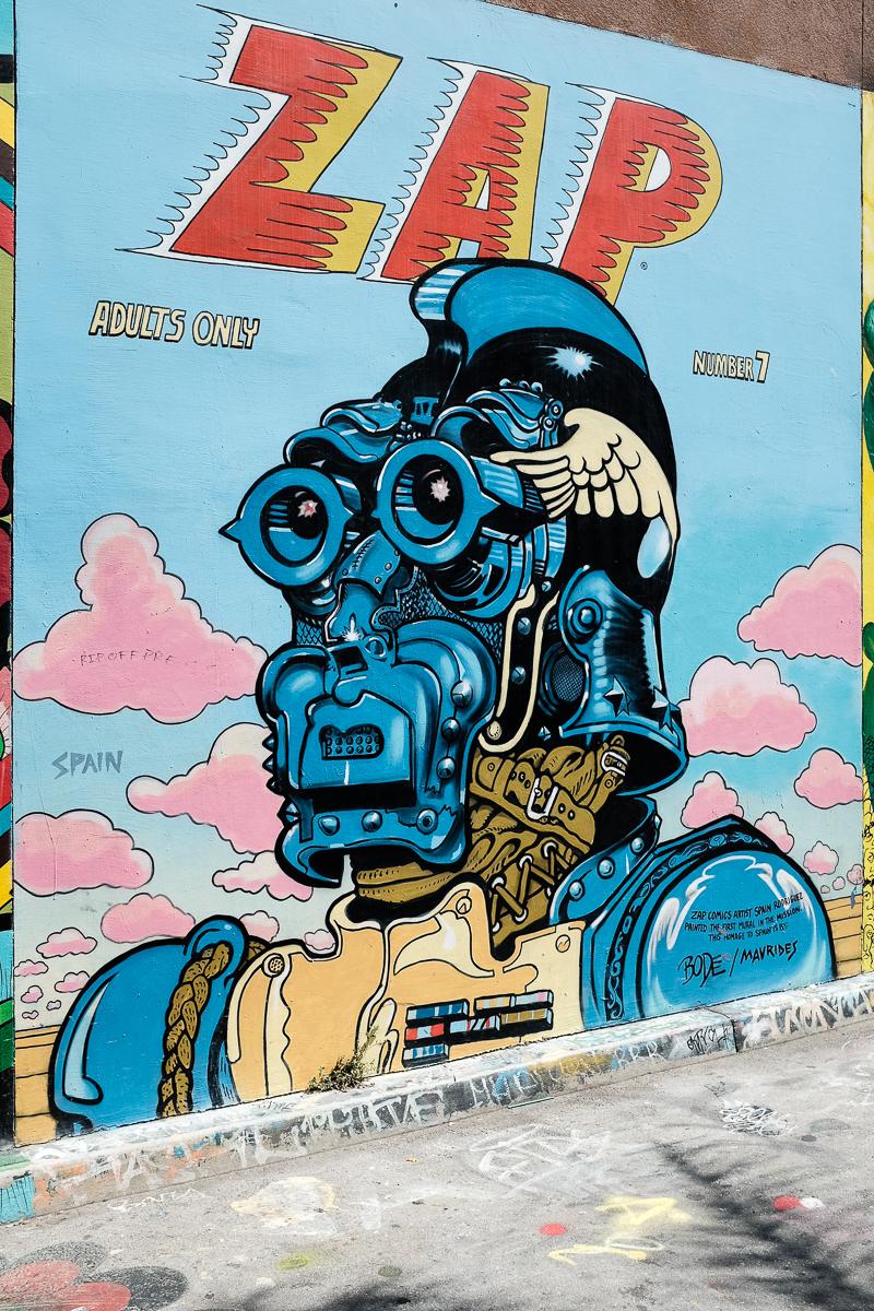 Street Art Mural 'Zap'